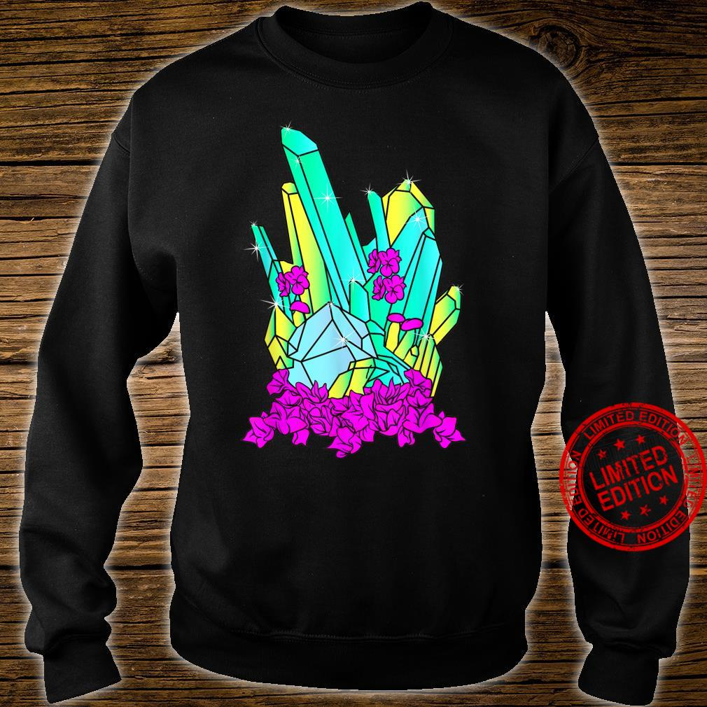 Psychedelic Crystalline Mineral Geology Vaporwave Shirt sweater