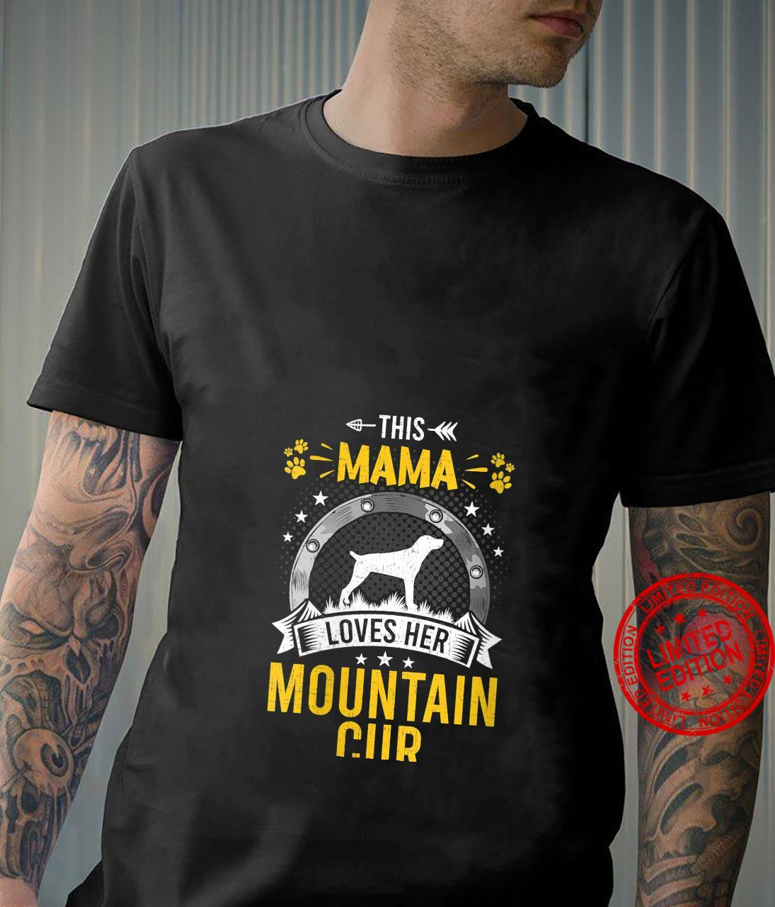 Womens This Mama Loves Her Mountain Cur Dog Shirt