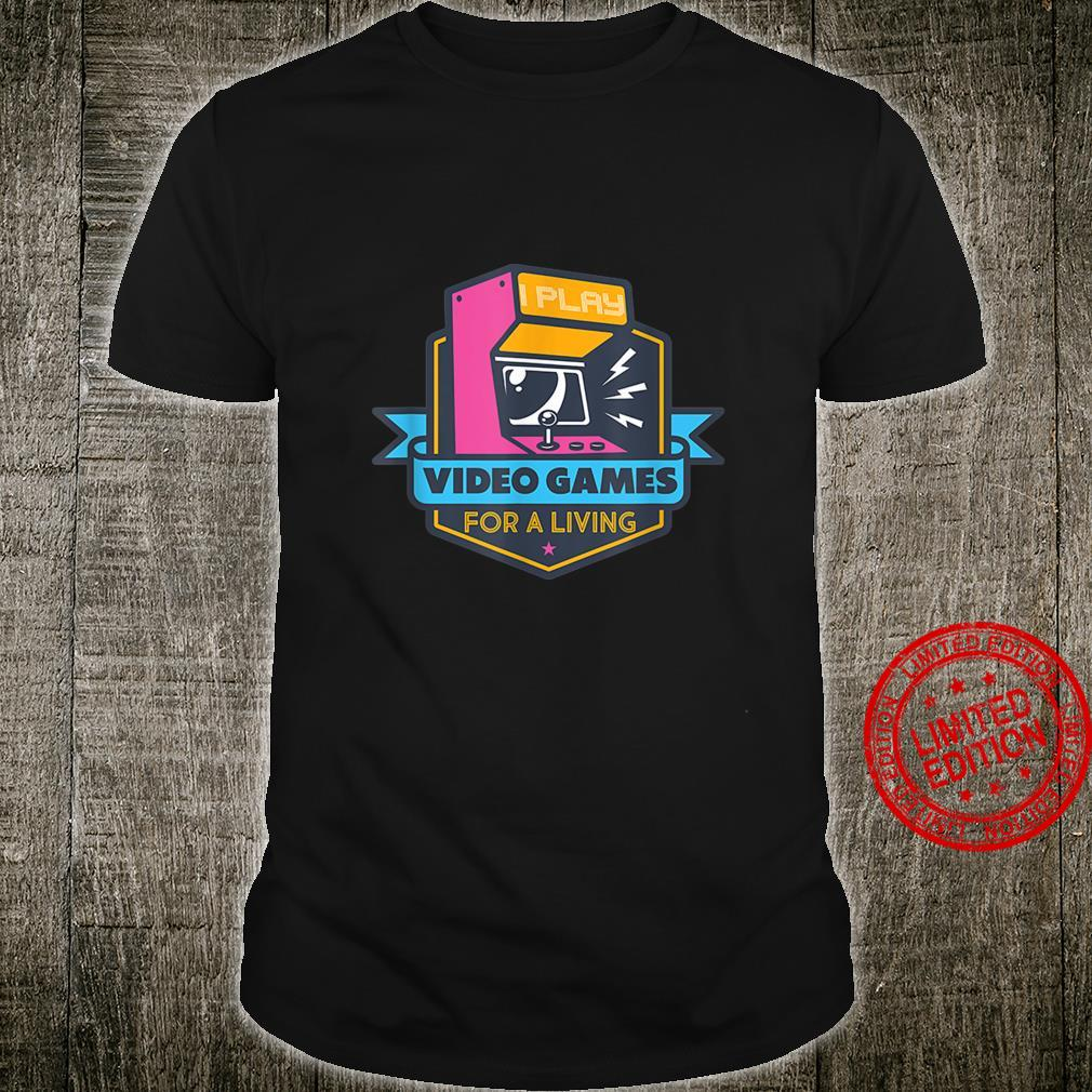 Funny Colorful Cool Video Games for Gamers and Nerds Shirt